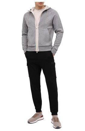Мужской толстовка ERMENEGILDO ZEGNA светло-серого цвета, арт. UW564/815 | Фото 2