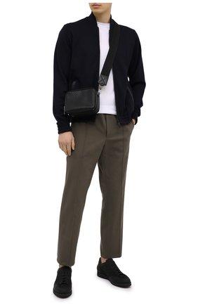 Мужская кожаная сумка ERMENEGILDO ZEGNA черного цвета, арт. C1682P-LHPTA | Фото 2