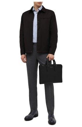 Мужская кожаная сумка для ноутбука ERMENEGILDO ZEGNA черного цвета, арт. C1560J-LHJAK | Фото 2