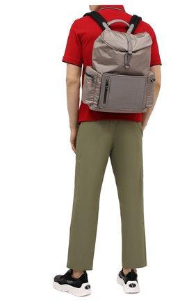Мужской комбинированный рюкзак ERMENEGILDO ZEGNA бежевого цвета, арт. C1282P-LHDTL | Фото 2