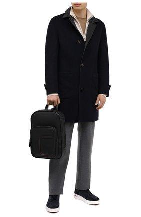 Мужской кожаный рюкзак ERMENEGILDO ZEGNA черного цвета, арт. C1707W-LHDAI | Фото 2