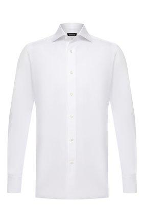 Мужская хлопковая сорочка ERMENEGILDO ZEGNA белого цвета, арт. 903901/9MS4BA | Фото 1
