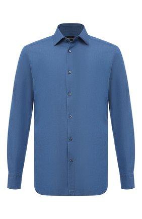 Мужская хлопковая рубашка ERMENEGILDO ZEGNA синего цвета, арт. 901670/9MS0M2 | Фото 1