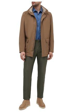 Мужская хлопковая рубашка ERMENEGILDO ZEGNA синего цвета, арт. 901670/9MS0M2 | Фото 2