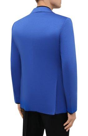 Мужской хлопковый пиджак KITON синего цвета, арт. UG81H07715 | Фото 4