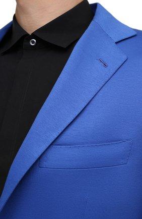 Мужской хлопковый пиджак KITON синего цвета, арт. UG81H07715 | Фото 5