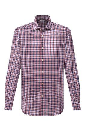 Мужская рубашка из хлопка и льна KITON разноцветного цвета, арт. UCIH0769508 | Фото 1