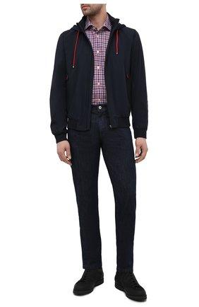 Мужская рубашка из хлопка и льна KITON разноцветного цвета, арт. UCIH0769508 | Фото 2