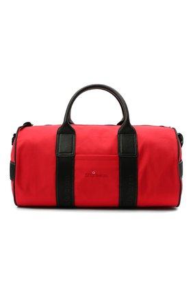 Мужская текстильная дорожная сумка KITON красного цвета, арт. UBGYMN00821 | Фото 1 (Материал: Текстиль; Ремень/цепочка: На ремешке)