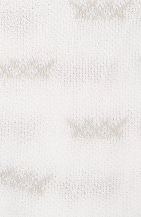 Мужские хлопковые носки ERMENEGILDO ZEGNA белого цвета, арт. N5V023810 | Фото 2