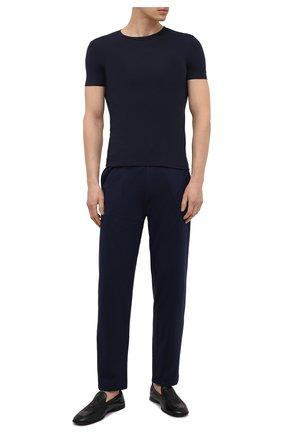 Мужская футболка ERMENEGILDO ZEGNA синего цвета, арт. N3M201210 | Фото 2
