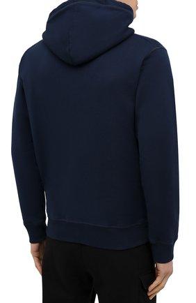Мужской хлопковое худи DSQUARED2 темно-синего цвета, арт. S79GU0003/S25042 | Фото 4 (Рукава: Длинные; Длина (для топов): Стандартные; Стили: Гранж; Принт: С принтом; Мужское Кросс-КТ: Худи-одежда; Материал внешний: Хлопок)