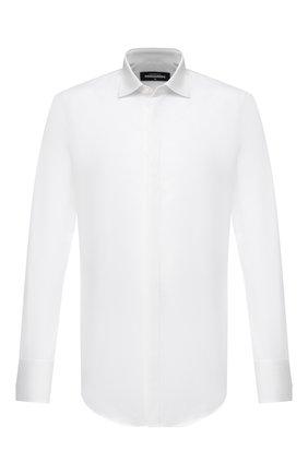 Мужская хлопковая рубашка DSQUARED2 белого цвета, арт. S74DM0498/S35244 | Фото 1
