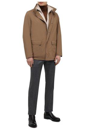 Мужская куртка LORO PIANA коричневого цвета, арт. FAI1016 | Фото 2