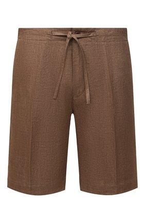 Мужские льняные шорты LORO PIANA коричневого цвета, арт. FAI5747 | Фото 1