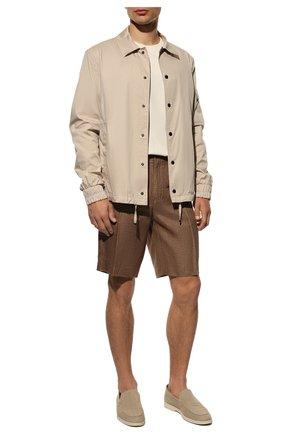 Мужские льняные шорты LORO PIANA коричневого цвета, арт. FAI5747 | Фото 2
