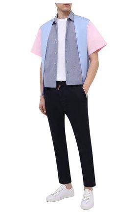 Мужская хлопковая рубашка DSQUARED2 разноцветного цвета, арт. S74DM0486/S53618   Фото 2