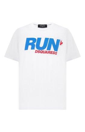 Мужская хлопковая футболка DSQUARED2 белого цвета, арт. S74GD0785/S23852   Фото 1