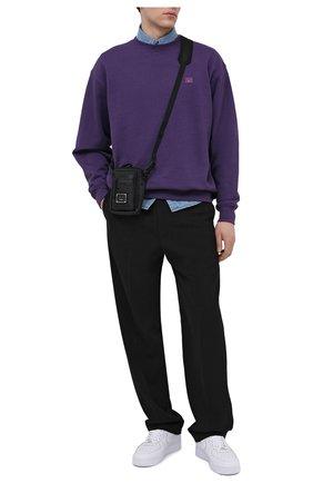 Мужской хлопковый свитшот ACNE STUDIOS фиолетового цвета, арт. CI0054/M | Фото 2