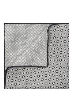 Мужской шелковый платок BRIONI светло-серого цвета, арт. 071000/P0424 | Фото 1
