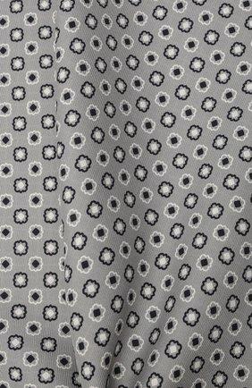 Мужской шелковый платок BRIONI светло-серого цвета, арт. 071000/P0424 | Фото 2