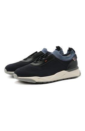 Мужские текстильные кроссовки SANTONI темно-синего цвета, арт. MBI021455BGTCNITU53 | Фото 1