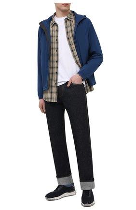 Мужские текстильные кроссовки SANTONI темно-синего цвета, арт. MBI021455BGTCNITU53 | Фото 2