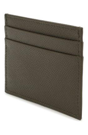 Мужской кожаный футляр для кредитных карт DOLCE & GABBANA хаки цвета, арт. BP0330/AZ602 | Фото 2