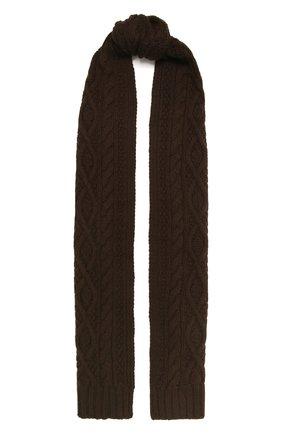 Мужской кашемировый шарф RALPH LAUREN коричневого цвета, арт. 790782226 | Фото 1
