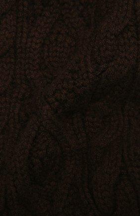 Мужской кашемировый шарф RALPH LAUREN коричневого цвета, арт. 790782226 | Фото 2