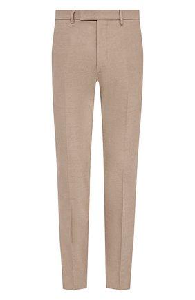 Мужские хлопковые брюки BERLUTI бежевого цвета, арт. R19TCU57-001 | Фото 1