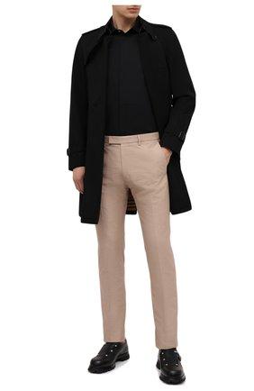 Мужские хлопковые брюки BERLUTI бежевого цвета, арт. R19TCU57-001 | Фото 2