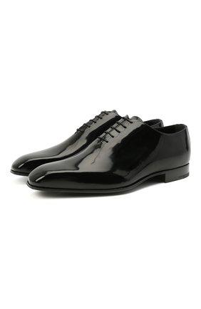 Мужские кожаные оксфорды ZEGNA COUTURE черного цвета, арт. A2841X-LHLEP | Фото 1