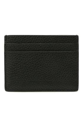Мужской кожаный футляр для кредитных карт ERMENEGILDO ZEGNA черного цвета, арт. LHDAI-E1139W | Фото 1