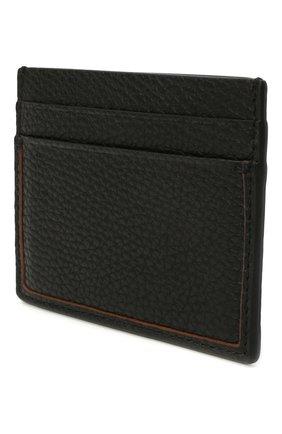 Мужской кожаный футляр для кредитных карт ERMENEGILDO ZEGNA черного цвета, арт. LHDAI-E1139W | Фото 2
