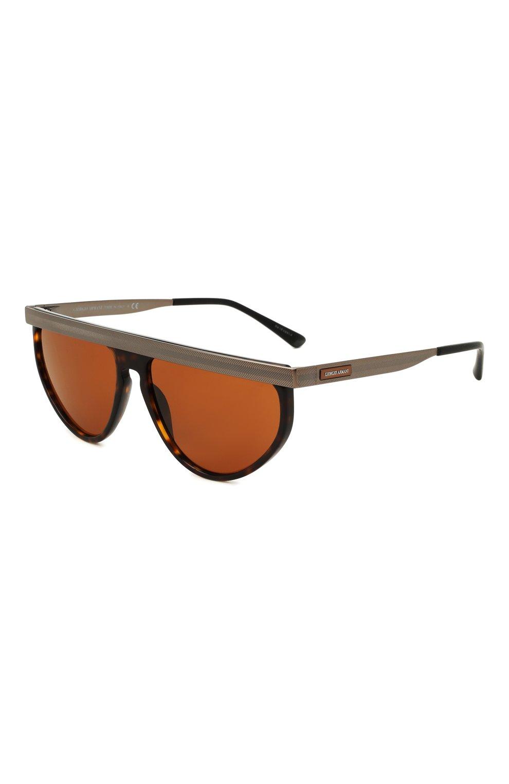 Мужские солнцезащитные очки GIORGIO ARMANI коричневого цвета, арт. AR6117 | Фото 1