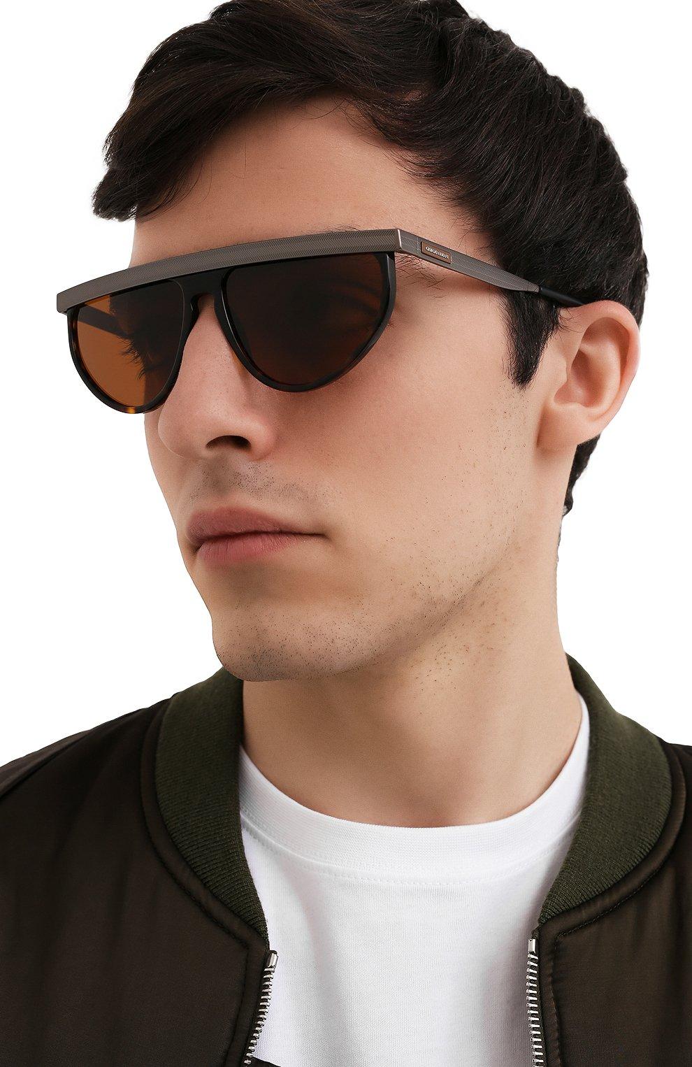 Мужские солнцезащитные очки GIORGIO ARMANI коричневого цвета, арт. AR6117 | Фото 2