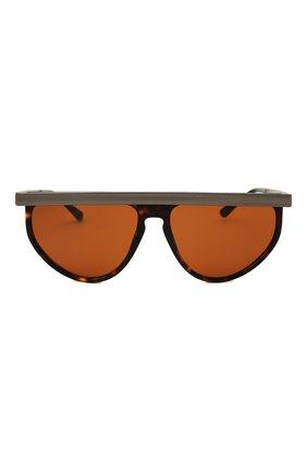 Мужские солнцезащитные очки GIORGIO ARMANI коричневого цвета, арт. AR6117 | Фото 3