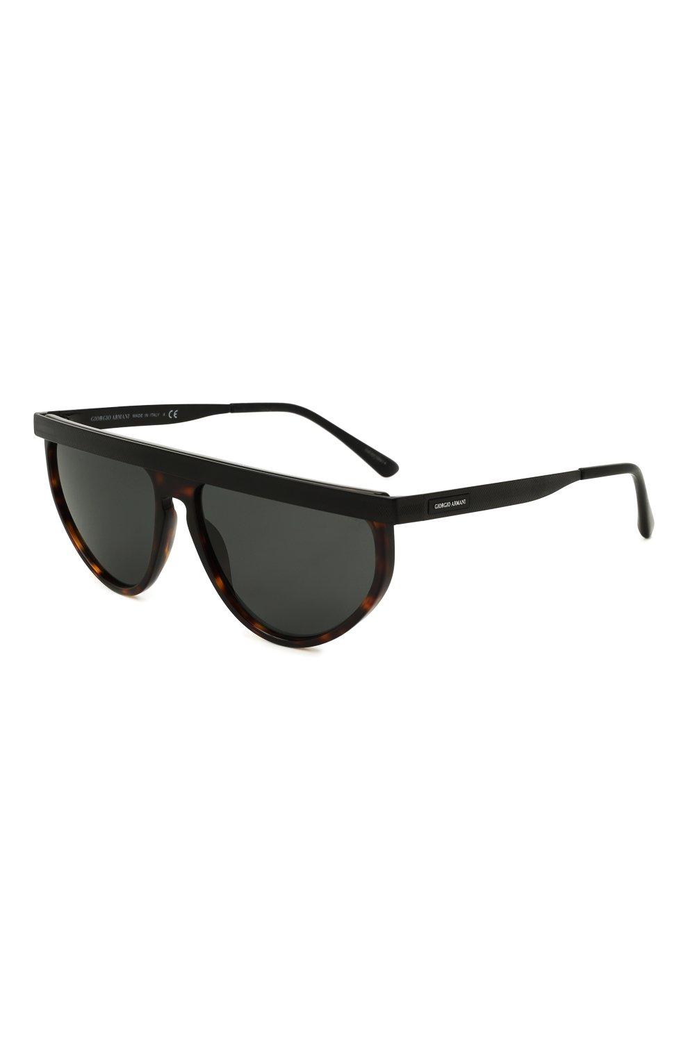 Мужские солнцезащитные очки GIORGIO ARMANI темно-коричневого цвета, арт. AR6117   Фото 1