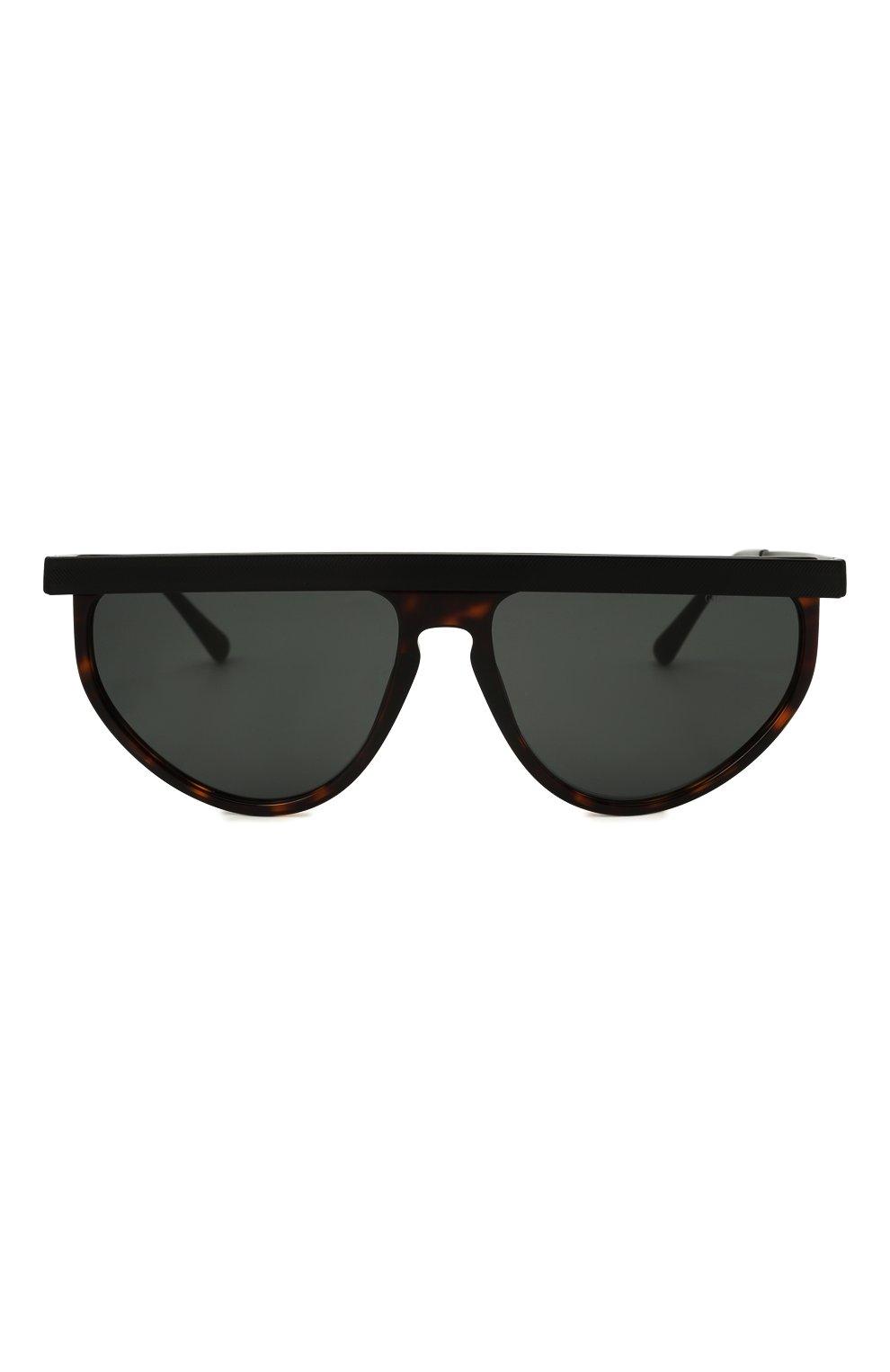 Мужские солнцезащитные очки GIORGIO ARMANI темно-коричневого цвета, арт. AR6117   Фото 3