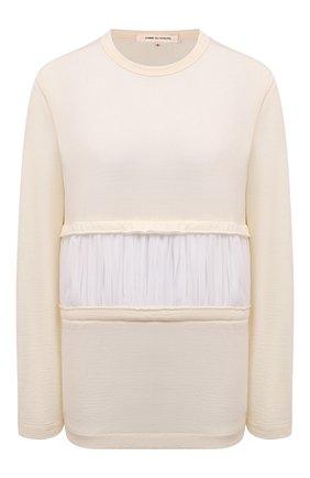 Женский шерстяной пуловер COMME DES GARCONS бежевого цвета, арт. GF-T012-051 | Фото 1
