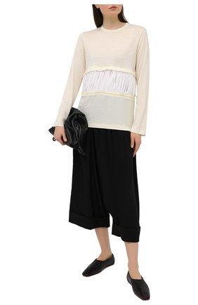 Женский шерстяной пуловер COMME DES GARCONS бежевого цвета, арт. GF-T012-051 | Фото 2
