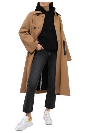 Женские кожаные кеды xl sole ALEXANDER MCQUEEN желтого цвета, арт. 650788/WHZ4K | Фото 2