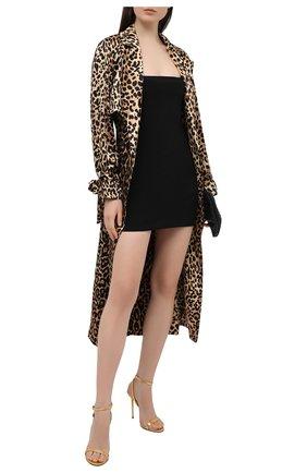 Женские кожаные босоножки padlock TOM FORD золотого цвета, арт. W2436T-LSP014 | Фото 2