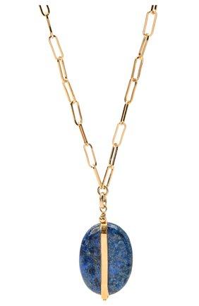 Женская кулон на цепочке ISABEL MARANT темно-синего цвета, арт. C00232-21P025B | Фото 2