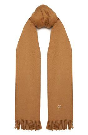 Женский кашемировый шарф BURBERRY коричневого цвета, арт. 8034040   Фото 1