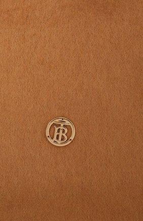 Женский кашемировый шарф BURBERRY коричневого цвета, арт. 8034040   Фото 2