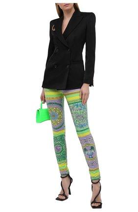 Женские леггинсы VERSACE разноцветного цвета, арт. A88625/1F00541 | Фото 2