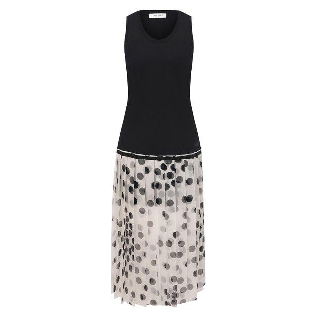 Платье из хлопка и шелка Valentino