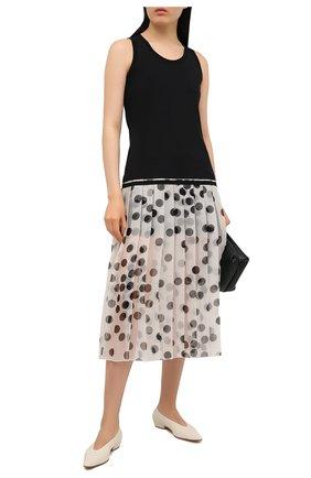 Женское платье из хлопка и шелка VALENTINO черно-белого цвета, арт. VB3MJ02Y683 | Фото 2